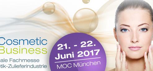 Cosmacon auf der CosmeticBusiness München (21. Juni bis 22. Juni 2017)
