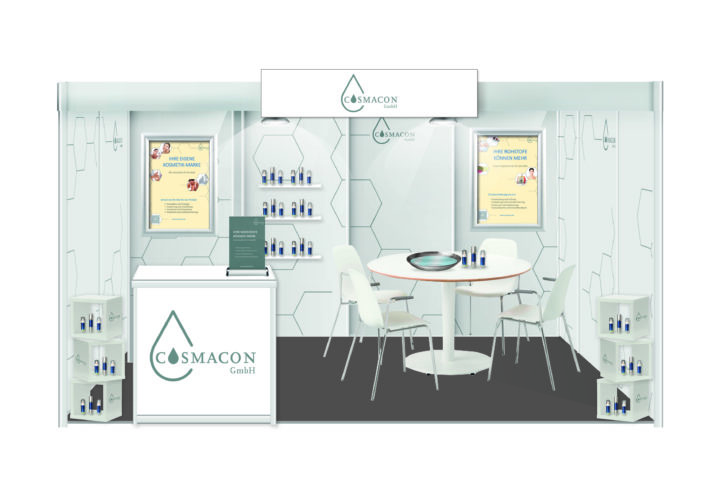 Neuer Messestand Cosmacon; CosmeticBusiness2019