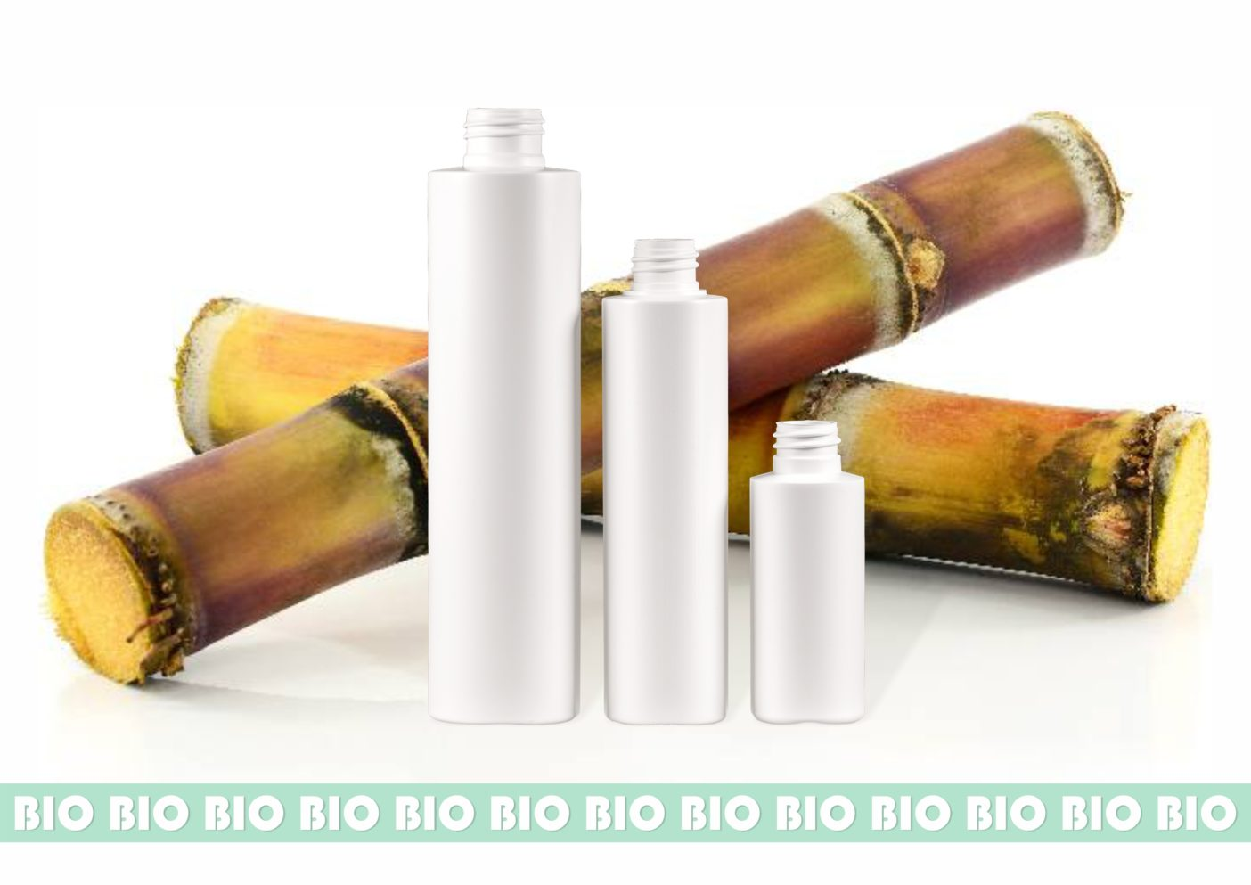 PLA - PEF - rPET - recyceltes Plastik